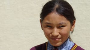 Student from the LMHS in Zanskar