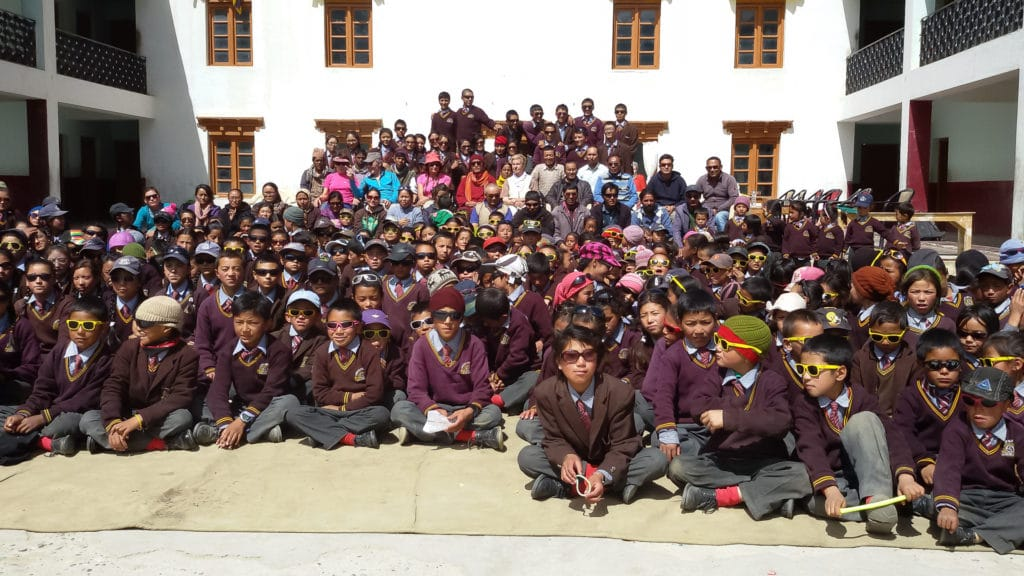 Students from LMHS in Zanskar