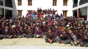 Students from LMHS in Zanskar