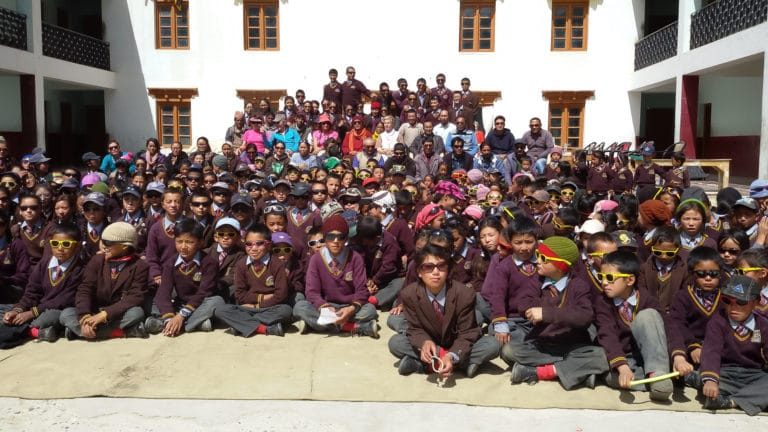 Students fron the LMHS in Zanskar