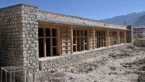 Gebäude im Bau an der LMHS-Schule in Zanskar