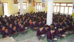 Students in class at LMHS in Zanskar