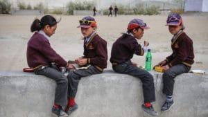 Mittagspause für LMHS-Studenten in Zanskar
