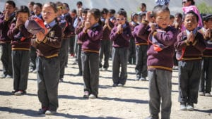 Morgengebet in der LMHS-Schule in Zanskar
